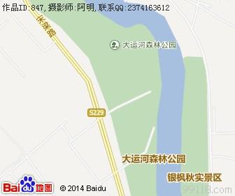 北京通州大运河森林公园地图浏览